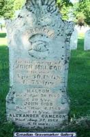 John McLeod Headstone St Andrew/St James Cemetary