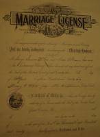 George D Macleod and Minnie Garrard Marriage