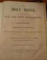 Garrard-Gould Bible inside cover