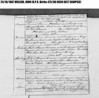 John McLeod Birth Notice