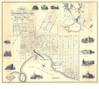 1867 map of Orillia with John McLeod residence