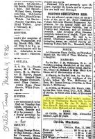 Kate McLeod James Blair Marriage Orillia Times 1886