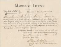 George Duncan McLeod Minnie Garrard marriage license